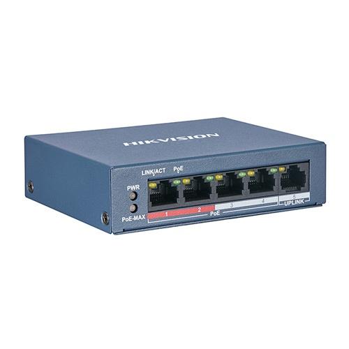 Hikvision DS-3E0105P-E/M(B) 4-Портовий POE Комутатор
