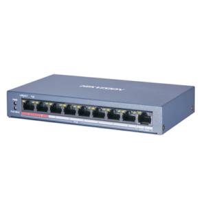 Hikvision DS-3E0109P-E/M(B) 8 Портовий POE Комутатор