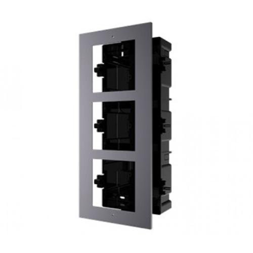 Hikvision DS-KD-ACF3 / PLASTIC Врізна Монтажна Рамка На 3 Модуля