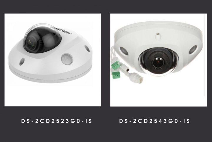 Основні порівняльні характеристики камер  Hikvision DS-2CD2523G0-IS  и DS-2CD2543G0-IS